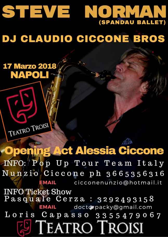 Steve Norman a Napoli