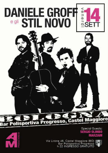 eventi musicali Bologna Daniele Groff e gli Stil Novo