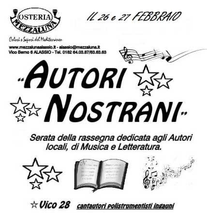 Eventi a Savona, Autori nostrani