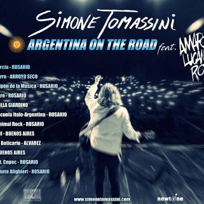 """SIMONE TOMASSINI, tour sudamericano """"Argentina on the road"""", Amaro Lucano Rock"""