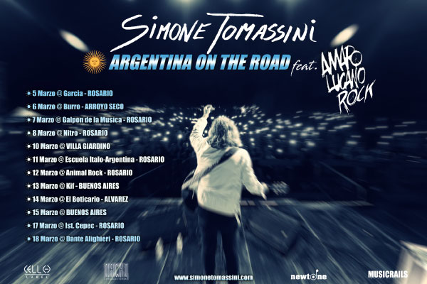"SIMONE TOMASSINI, tour sudamericano ""Argentina on the road"", Amaro Lucano Rock"